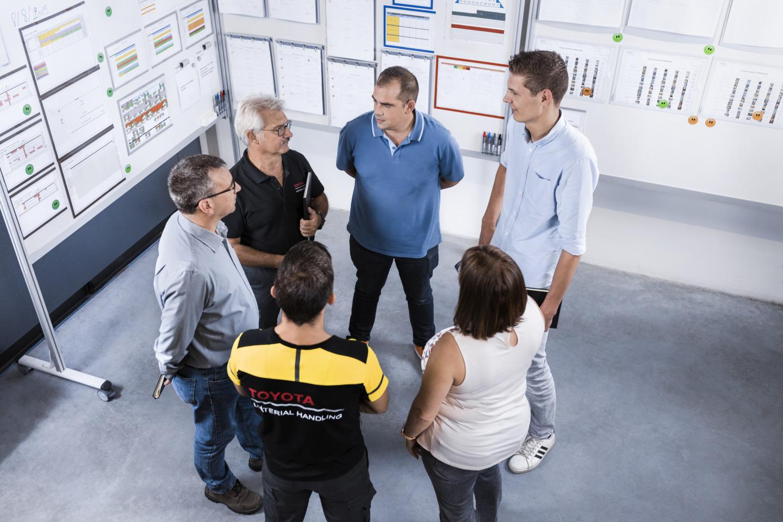 daily meeting para revisar y mejorar
