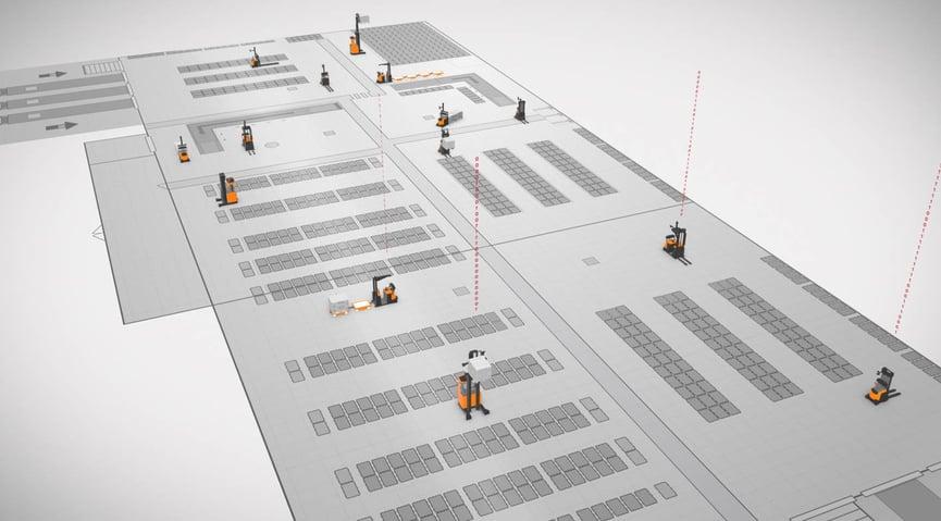 esquema vehiculos de guiado automatico en funcionamiento