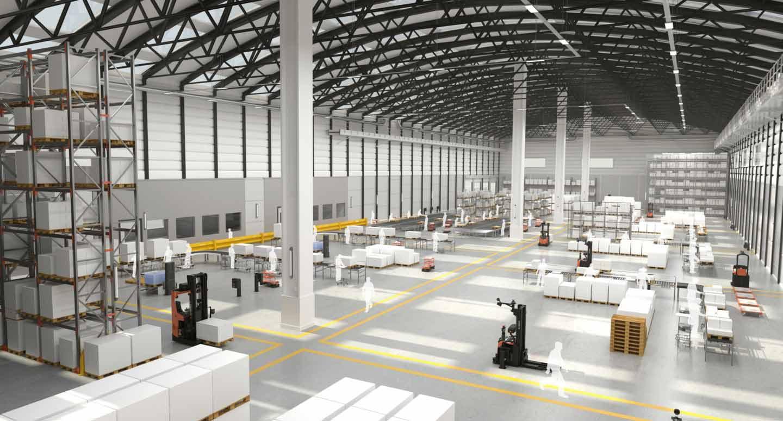 automatización industrial con agv en el almacén