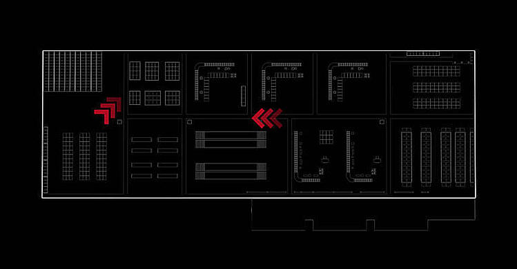 esquema layout almacén