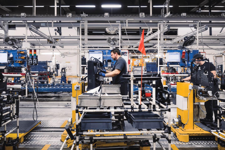 línea de producción de carretillas elevadoras