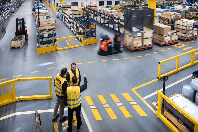 automatización industrial con agv