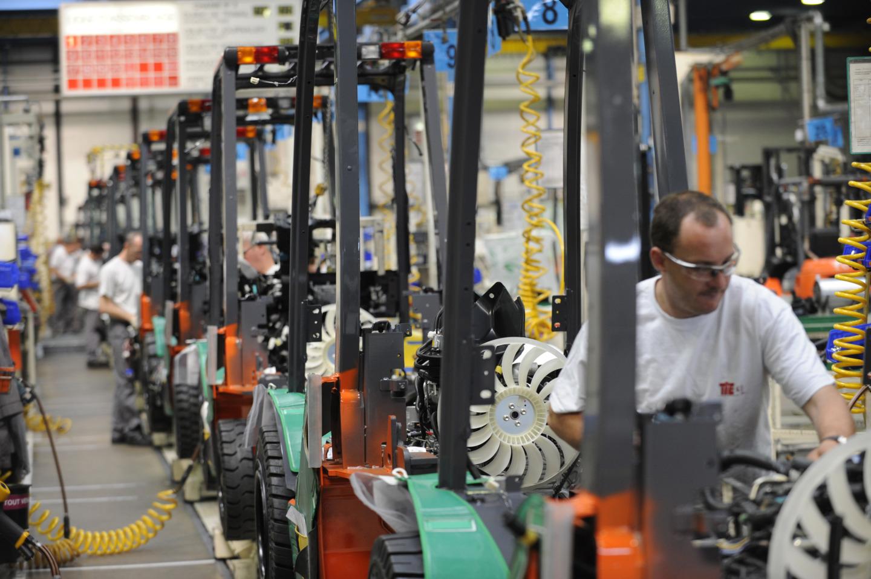 trabajador en la fábrica de Ancenis
